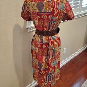 Vintage Dresses - FINAL❣Vintage 80's Southwest Print Dress